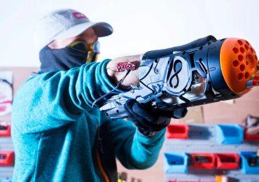 Proteza-pistolet Nerf wykonana przy użyciu druku 3D