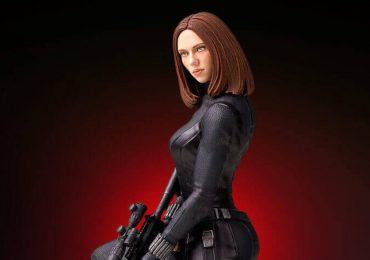 Wspaniała statuetka Czarnej Wdowy wydrukowana w 3D